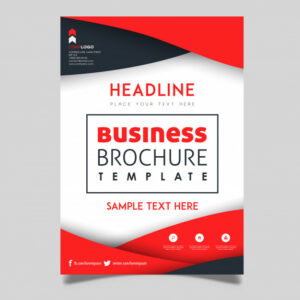 colorful vector business brochure