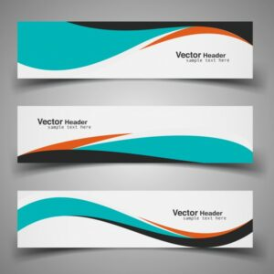 colorful wavy headers